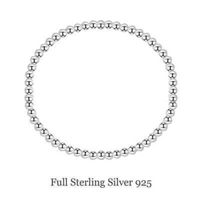 Sterling Silver Balls Stretch Bracelet inspired by Tiffany