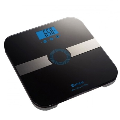 Sansai Black Body Fat Scale