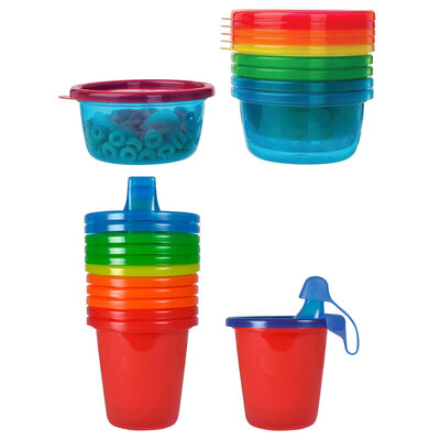 12PK The First Years Take & Toss Bowls/Sippy Cups