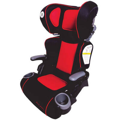 Ultra Plus Folding Booster Car Seat - Red/Black