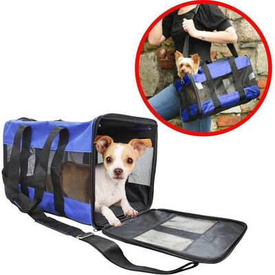 Pet Carrier Soft Portable Foldable Travel Crate Cage Kennel for Dog/Cat/Puppy