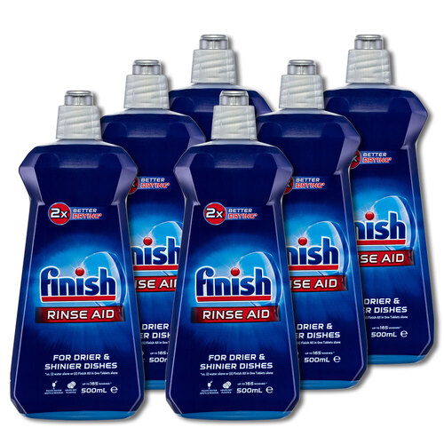 6x Finish Dishwashing Rinse Aid Shine & Protect Shiny/Clean/Fast Drying Dishes