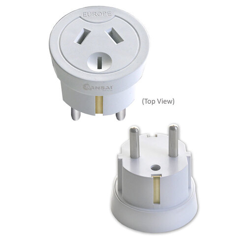Travel Power Adapter AU/NZ Socket to Plug Asia EU/Middle East
